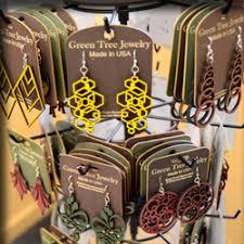 green tree earrings scarves jewelry at zanzibar