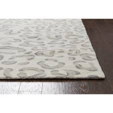 Animal Area Rugs Nuloom Leopard Print Grey 8 Ft X 10 Ft Area Rug Rzbd61a 8010