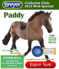 identify your breyer paddy collector club web special