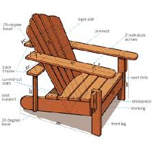 How To Build Wooden Outside Chairs by How To Build An Adirondack Chair Sons Woodworking And Gardens
