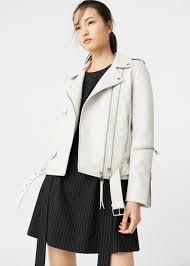 biker jacket zipped biker jacket women mango usa