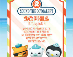 octonauts birthday invitation octonauts