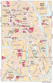 belgium city map 12 top tourist attractions in ghent planetware