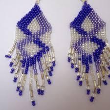 Chandelier Beaded Earrings White Bead Best Beaded Earring Patterns Products On Wanelo