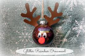 diy glitter ornaments with