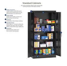 Cabinet Tools Tennsco 7218 24 Gauge Steel Standard Welded Storage Cabinet 4