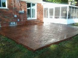 Patio Backyard Ideas by View In Gallery Stamped Concrete Patio Designs With With Wall And