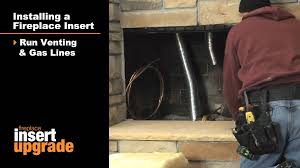 retrofit gas fireplace inserts atlanta the fireplace place youtube