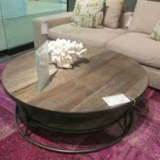 round living room table round industrial coffee table foter