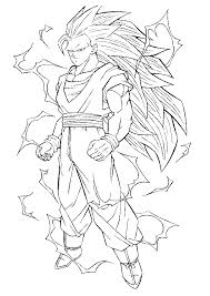 dragon ball power goku super saiyan 3 coloring pages dragon