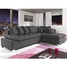 canapé angle anthracite le canapé d angle idéal grand confort en tissu moelleux