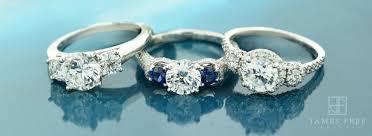 three stone engagement rings past present u0026 future three stone engagement rings james free