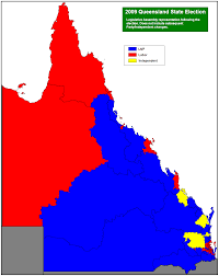 Blank Electoral Map by Queensland State Election Results