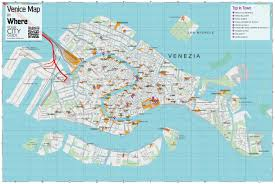 Venice Florida Map by Venice Italy Map Of Attractions Greece Map Venice Map Turkey