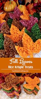 fall leaves rice krispie treats potluck desserts thanksgiving