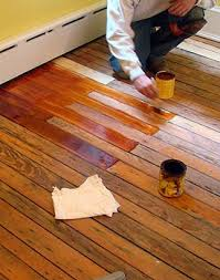 staining pine floor pictorial