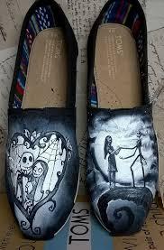 nightmare before painted shoes custom