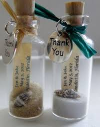 beachy wedding favors thank you mini message bottle favors with or without magnets sold