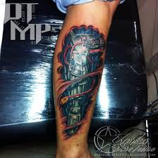12 mechanical tattoos for leg