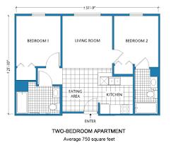 Studio Apartment Floor Plan Design 2 Bedroom Layout Design Floor Plan Two Bedroom Apartment