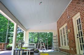Beadboard Pics - how to install a wood plank ceiling young house love