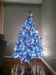 small blue christmas tree christmas decor