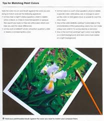 tips for matching paint colors from the book realistic painting