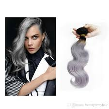 hk hair extensions wave grey hair weave silver grey ombre hair
