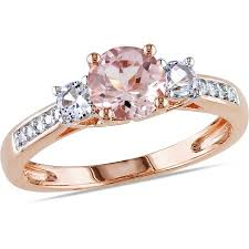 walmart white gold engagement rings tangelo 1 1 7 carat t g w morganite created white sapphire and