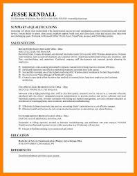 Resume Synopsis Sample by 5 Summaries For Resumes Examples Doctors Signature