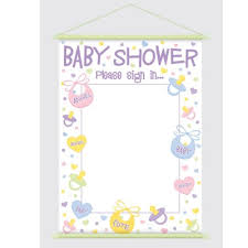 photo baby shower sign in image