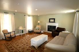 open living rooms such as the one above use a lighter shade of