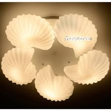 Seashell Light Fixture Modern White Sea Shell Ceiling Lights Fixture Home Indoor Lighting