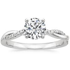 twist engagement ring twist diamond engagement ring in platinum 1 10 ct tw