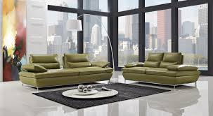 Sofa Set Naomi Green Leather Sofa Sets Steel Legs Loveseats Sets Online