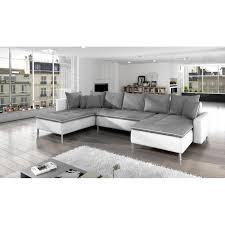 canapé panoramique tissu canapé panoramique dante tissu gris simili cuir blanc achat