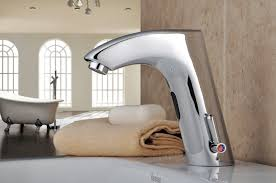 chrome finish brass bathroom sink automatic faucet with sensor