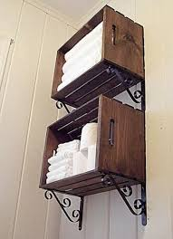 Bathroom Storage Ideas by Wooden Crate Idea Bathroom Storage Idea Wooden Crates