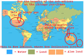 New Zealand On World Map Oz Typewriter Headliners Good And Bad Good Varityper Bad