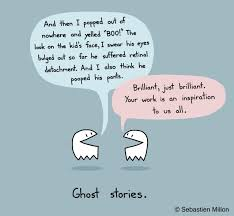 drawn ghostly cartoon pencil and in color drawn ghostly