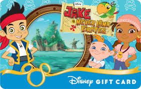 image jake neverland pirates u0027 disney gift card jpg