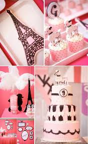 themed parties idea kara s party ideas poodle in paris french girl pink 1st birthday