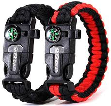 paracord bracelet whistle fire images Survival paracord bracelet hiking gift best jpg