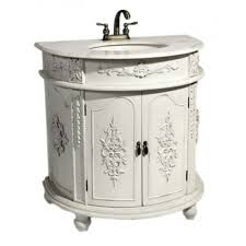 antique white shabby chic french bathroom vanity unit sink drawers