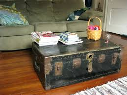 Trunk Coffee Table With Storage Coffee Tables Steamer Trunk Coffee Table Diy Vintage Trunk