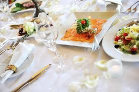 table setting pictures banquet table setting for wedding dinner stock photo picture and