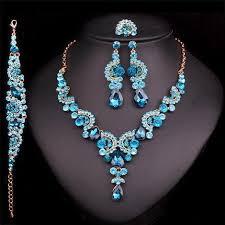 sapphire necklace earrings images Blue sapphire necklace earring set atperrys jpg