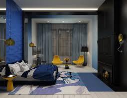 futuristic master bedroom interior feature blue bedroom accent