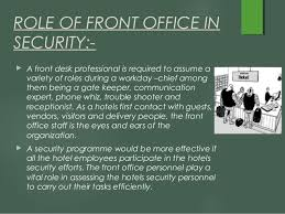 Security Front Desk Safety And Security
