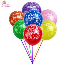 cheap balloons 50 pcs lot 12 inch colorful happy birthday balloons birthday